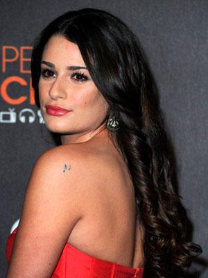 lea michele hair bangs. Lea Michele