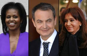 Obama, Rodriguez Zapatero, Kirchner / Wireimage y Reuters