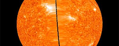 Imágenes del sol presentadas por la NASA / Foto: EFE