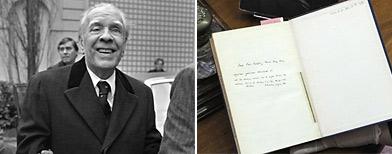 Jorge Luis Borges: hallan un millar de libros con anotaciones suyas y un poema inédito/ AFP