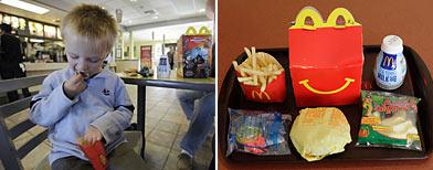 Prohibirán juguetes en las cadenas de comidas rápidas/ AP