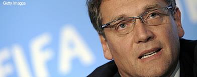Jerome Valcke, secretário-geral da Fifa, dá coletiva. Foto: Getty Images