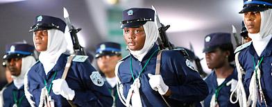 Des femmes membres des forces armées libyennes - AP Photo/Ben Curtis
