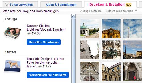 """Neuer """"Drucken & Erstellen"""" Bereich im Organizr"""