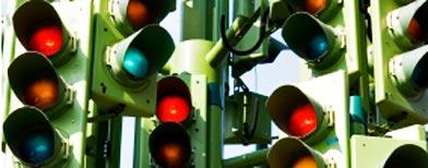 Collage de semáforos / Foto: Istockphoto