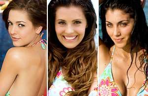 Miss Colombia 2009,Miss Mexico 2009, Miss Argentina 2009./Crédito:Matt Pettit