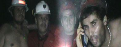 Imagen de los mineros atrapados en Chile / AP