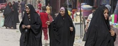 Foto de mujeres iraquíes en Bagdad. Foto AP.
