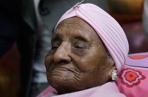 Persona más anciana del mundo muere a los 115 años. Gertrude Baines- AP