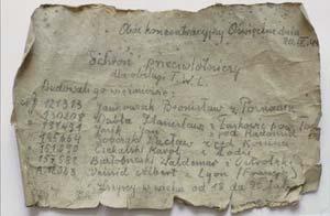 Carta hallada dentro de una botella durante las obras de renovación de una escuela de Oswiecim, Polonia, que en la Segunda Guerra Mundial era parte del campo de concentración de Auschwitz-Birkenau/EFE