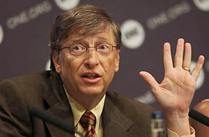 Bill Gates en una conferencia de prensa de la campa�a ONE, junio de 2009 / GettyImages