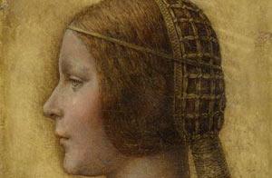 Foto del cuadro Perfil de la bella princesa, ahora atribuido a Da Vinci/AP