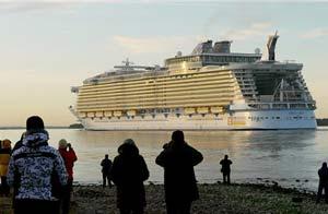 Oasis of the Seas parte de Finlandia el 30 de oct/AP
