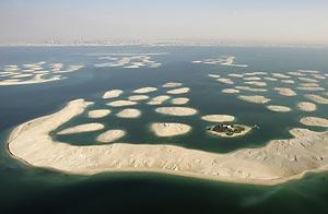 El complejo The World, en Dubai, frenado por la crisis en el emirato / Foto: Getty Images