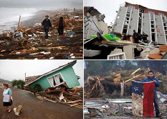 Imágenes de los daños causados por el terremoto en Chile / Fotos: AP