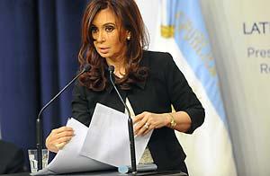 La presidenta Cristina Kirchner durante la presentación del informe sobre Papel Prensa / Foto: Télam