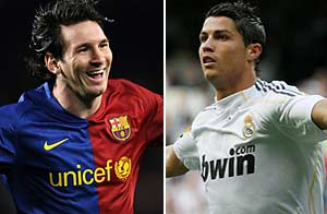 Cristiano y Messi. Getty Images