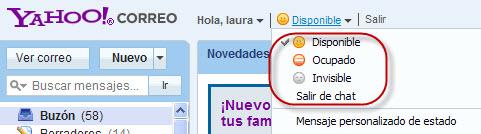 Chat en Yahoo! Mail
