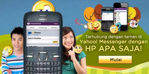Chat Mobile Yahoo Messenger YM di Handphone HP Semakin Mudah