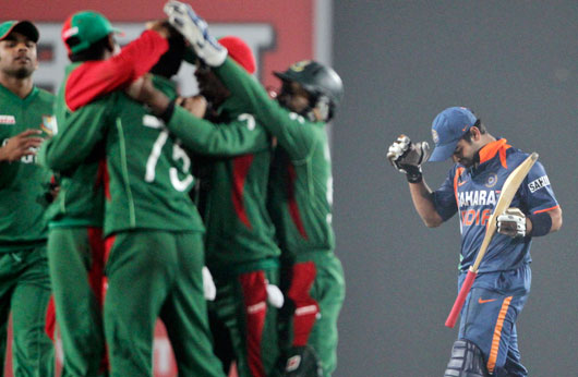 kohli_disappoint Watch Bangladesh Vs India 3rd ODI Result,Photo & Video Highlights