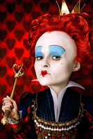 Helena Bonham Carter as the Red Queen