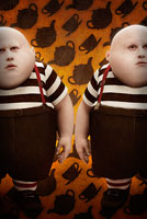 Matt Lucas as Tweedledee and Tweedledum