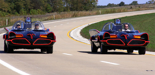 Batmobile replicas from Fiberglass Freaks