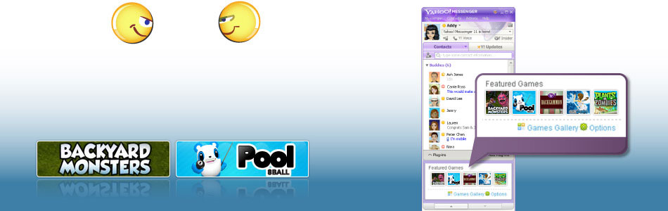 Reta a tus amigos a una serie de juegos sociales, como Backyard Monsters y Pool.