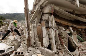 Escombros en Haití/AP