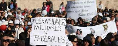 Manifestación en Ciudad Juárez contra la violencia/Reuters