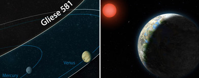 El planeta Gliese 581 donde la vida sería posible / Foto: El Universal
