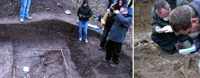 Una tumba colectiva de la época del Holocausto/AP