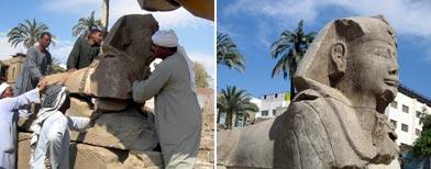 Nuevas esfinges encontradas en Egipto / Foto: EFE