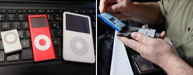 iPods y aficionado reparando / AP