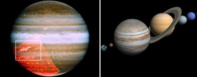 Júpiter recupera franja y mancha/ Reuters - iStockphoto