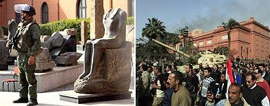 Aspecto de las inmedicaciones del Museo del Cairo / Fotos: AP