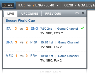 yahoo world cup toolbar