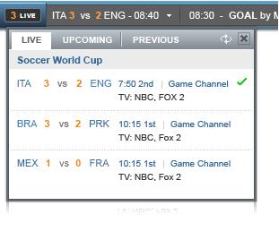 yahoo world cup toolbar