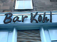 Bar Kohl, Edinburgh
