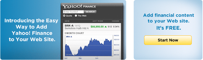 Yahoo! Finance Quotes