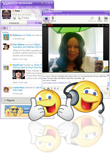 chat, instant message, instant messenger, yahoo messenger, IM, file sharing, windows live messenger, chat rooms, download yahoo messenger, video calls