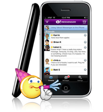 Yahoo Messenger App for iPhone
