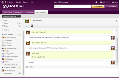 [Yahoo! Messenger pour le Web]