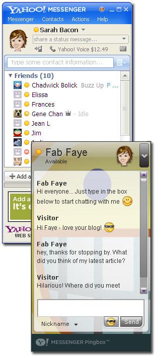 Yahoo! Pingbox