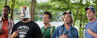 Chris Rock; Kevin James; Rob Schneider; David Spade and Adam Sandler in 'Grown-Ups' (Sony)