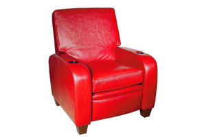 Not one, but two cupholders are built into this red-hot Coja Malibu recliner for $1,493.CSN stores.