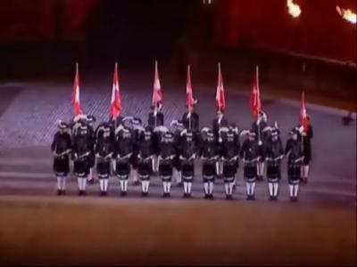 of the 2007 Edinburgh Military Tattoo in Edinburgh Scotland during the