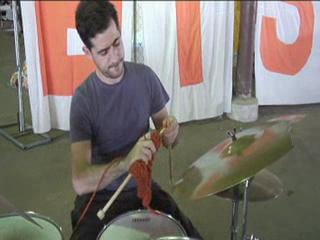 The Knitting Drummer Video izle
