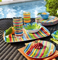 Outdoor dinnerware & drinkware