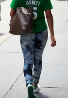 Paint-splattered jeans